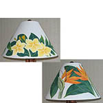 Hand Painted Hawaiian Lamp Shades