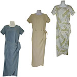 Silk Long Sarong Hawaiian Dresses