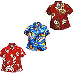 Cotton Fitted Hawaiian Blouses