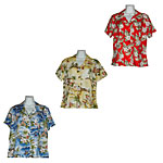 Rayon Fitted Hawaiian Blouses