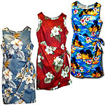 Cotton Short Sarong Hawaiian Dresses