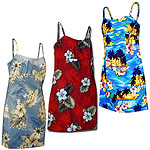 Cotton Short Spaghetti Hawaiian Dresses