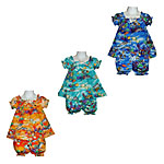 Baby Girls Short Sleeve Hawaiian Cabana Sets
