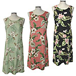 Rayon Mid-Length Tank Hawaiian Dresses