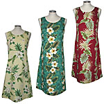 Cotton Mid-Length Tank Hawaiian Dresses