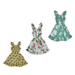 Girls Ruffle Neck Hawaiian Dresses