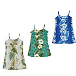 Girls Short Spaghetti Hawaiian Dresses