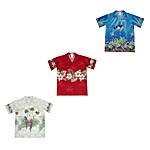 Boys Engineered Matched Front, Chest and Border Print Hawaiian Shirts