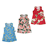 Girls Short Sarong Hawaiian Dresses