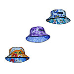 Cotton Hawaiian Reversible Bucket Hats