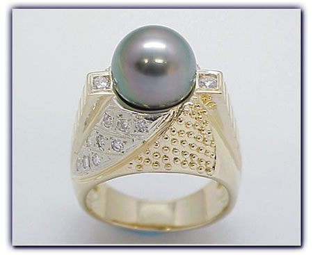 11.75mm Black Pearl Ring