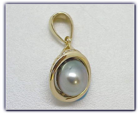 9.20mm Black Pearl Pendant