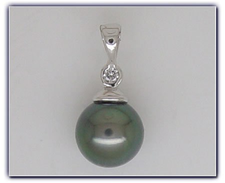 10.5mm Black Pearl Pendant