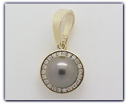 11mm Black Pearl Pendant