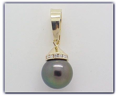 11.75mm Black Pearl Pendant