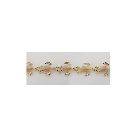 14k Gold Deluxe Two Tone Nautical Hawaiian Bracelet 11.6g