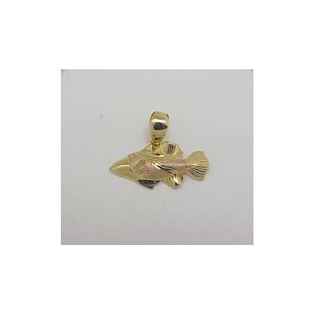 14k Gold Deluxe Two Tone Nautical Hawaiian Pendant 2.4g