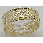 14k Gold Flower Of Hawaii Hawaiian Ring 2.5g
