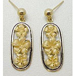 14k Gold Millennium Earrings 6.4g