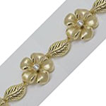 14k Gold New Plumeria Hawaiian Bracelet