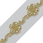 14k Gold New Plumeria Hawaiian Bracelet 16.3g