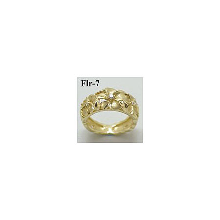 14k Gold Original Plumeria Hawaiian Ring 5g