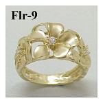 14k Gold Original Plumeria Hawaiian Ring 5g