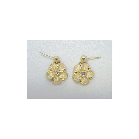 14k Gold Royal Plumeria Earrings