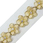 14k Gold Royal Plumeria Hawaiian Bracelet