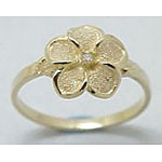 14k Gold Royal Plumeria Hawaiian Ring