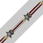 14k Gold Stars and Stripes Hawaiian Bracelet