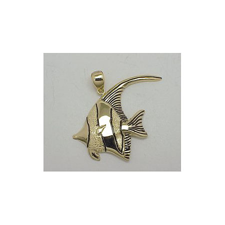 14k Gold Tropical Fish Hawaiian Pendant 5.4g