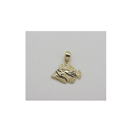 14k Gold Tropical Fish Hawaiian Pendant 1.6g