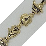14k Gold Tropical Fish Hawaiian Bracelet 10.6g