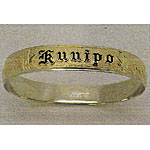14k Gold Hawaiian Heirloom Two-tone Bangle Bracelet