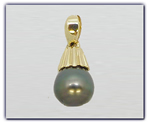 9.5mm Black Pearl Pendant
