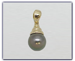 10mm Black Pearl Pendant