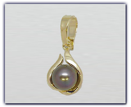 9.75mm Black Pearl Pendant