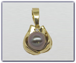 10.25mm Black Pearl Pendant
