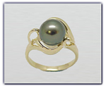 9.5mm Black Pearl Ring