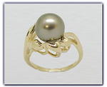 9.25mm Black Pearl Ring