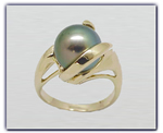 10.75mm Black Pearl Ring