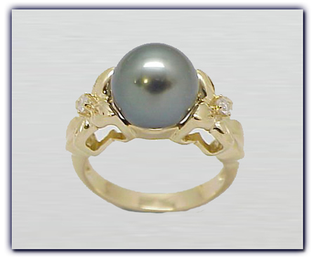10.25mm Black Pearl Ring