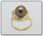 10.5mm Black Pearl Ring