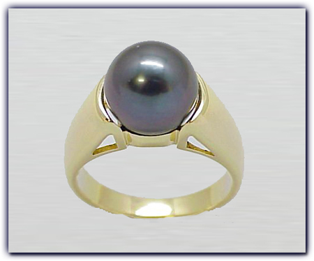 11.25mm Black Pearl Ring