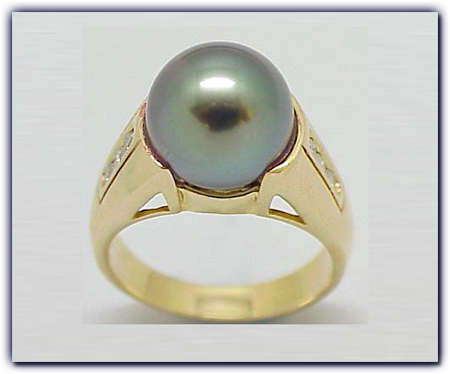 11mm Black Pearl Ring