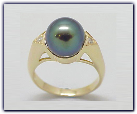 9.75mm Black Pearl Ring