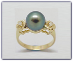 9mm Black Pearl Ring