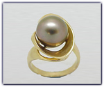 12.25mm Black Pearl Ring