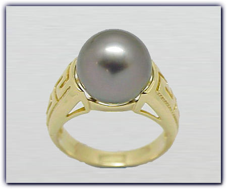 11.5mm Black Pearl Ring